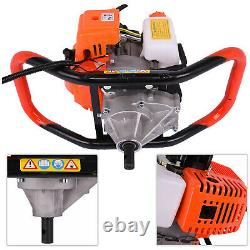 52cc 2.5HP 40-250MM Drill Auger Post Hole Digger Gas Powered Earth Auger US