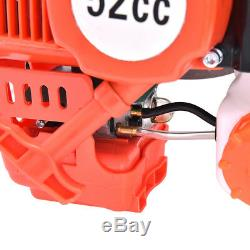 52cc 2.5HP Auger Post Hole Digger Gas Powered Auger Fence Ground Drill+3 Bits U