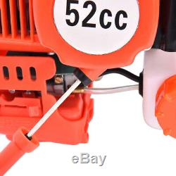 52cc 2.5HP Gas Powered Engine Post Hole Digger+Earth Auger Drill Bit(5 6 8)