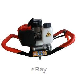 52cc 2-Stroke Gas Powered Engine Post Hole Digger Earth Auger with 4 6 8 Bits