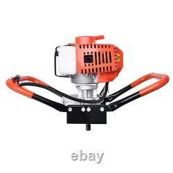 52cc 2 Stroke Post Hole Digger Gas Petrol Powered Earth Auger Power Engine +Bits