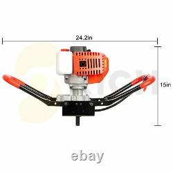 52cc 2-stroke Post Hole Digger Gas Powered Earth Burrowing Power Engine
