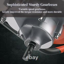 52cc 72cc Gas Powered Earth Auger Power Engine Post Hole Digger+Drill Bit Ground