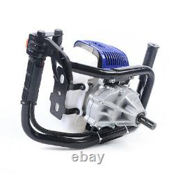 52cc Digging Machine Gas Powered Earth Auger Post Hole Digger+4/8 Auger Bits