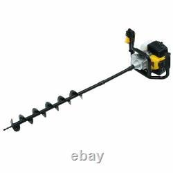 52cc Earth Auger 2-stroke Gas Powered One Man Post Hole Digger Machine / 3 xk