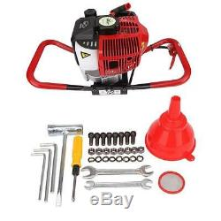 52cc Gas Power Earth Auger Post Fence Ground Borer Drill Machine Hole Digger