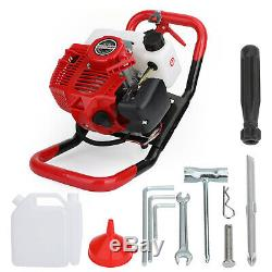 52cc Gas Power Earth Auger Post Fence Ground Borer Drill Machine Hole Digger US