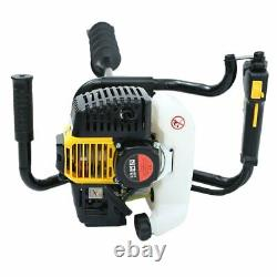 52cc Gas Powered Earth Auger Power Engine Post Hole Digger Earth With 3 Drill Bits
