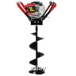 55cc 2-Stroke Gas-Powered Ice Post Hole Digger Motor with 10 Ice Auger Bit