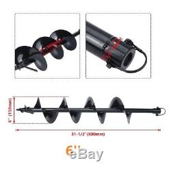 56CC 2 Stroke Engine 2.3HP Gas Power Post Hole Digger With 4/6/8/10/12 Drill Bit