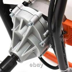 62CC Post Hole Digger Gas Powered Earth Auger Borer Fence Ground Drill +3 Bits