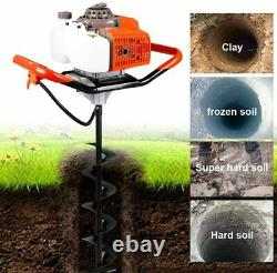 63CC 2.8HP Gas Powered Post Hole Digger With 6 8 Earth Auger Digging Engine +Ext