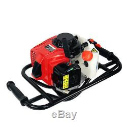 63CC 2 Stroke Gas-Powered Powerhead Post Hole Digger with 4 Digging Bit