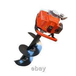 63CC 3HP Gas Powered Post Hole Digger Earth Auger Ground Drill with 12'' Bit US