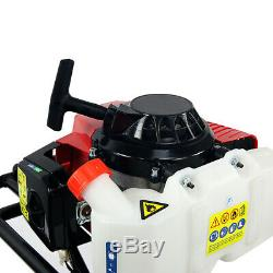 63CC Gas Power Earth Auger Post Hole Digger EPA Motor + 12inch Auger Drill Bit