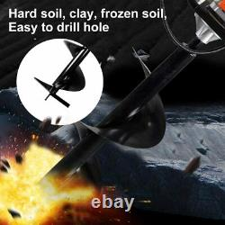 63cc 3.4HP Gas Powered Earth Auger Power Engine Post Hole Digger Earth Burrowing