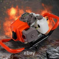63cc 3.4HP Gas Powered Earth Burrowing Auger Engine Post Hole Digger+ 12 Bit