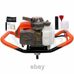 63cc 3.4HP Post Hole Digger Handles Gas Powered Auger Earth Drills Borer Machine