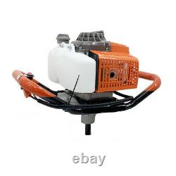 63cc Gas Powered Earth Auger Power Engine Post Hole Digger + 11.8Drill Bit US
