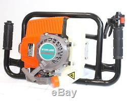 63cc One Man Gas 2.5HP Power Head Post Fence Hole Earth Auger Machine