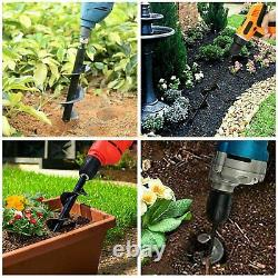 6 INCH Earth Auger Drill Bits Garden Flower for Gas Powered Post Hole Digger