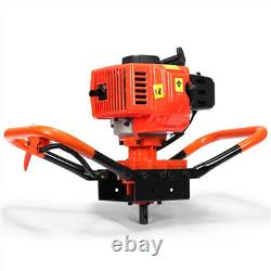 72CC 4HP Gas Powered Post Hole Digger with 4 8 12 3Bits Power Engine US
