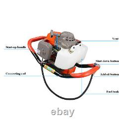 72CC Gas Powered Post Hole Digger 4HP Earth Auger Digging Engine Power Head