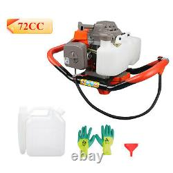 72CC Post Hole Digger Gas Powered Earth Auger Borer Fence Ground Drill Machine