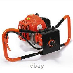 72CC Stroke Gas Post Hole Digger Earth Auger Petrol Powered Ground Drill&3Bits M