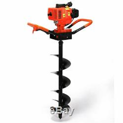 72cc 3KW Petrol Gas Powered Earth Auger Post Hole Borer Ground Drill +3 Bits