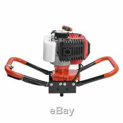 72cc 3KW Petrol Powered Earth Auger Post Hole Borer Ground Drill +3 Bits New