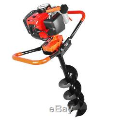72cc 3KW Petrol Powered Earth Auger Post Hole Borer Ground Drill with 3 Bits US