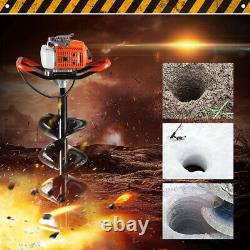 72cc Gas Powered Earth Auger Power Engine Post Hole Digger And 3 Drill Bits