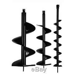 72cc Petrol Powered Earth Auger Post Hole Borer Ground Drill +3 Bits Part B US