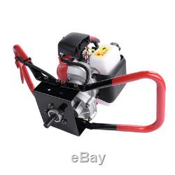 Earth Fence Post Hole Digger 52CC Gas Power Auger Head One Man Control 7000rpm