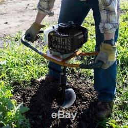 Gas Earth Auger Drill Powerhead Power Head Post Hole Digger Powermate 8 in Bit