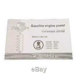 Gas Powered 52CC One Man Post Hole Digger Fence Auger Drill Bit 4 6 8 10 12