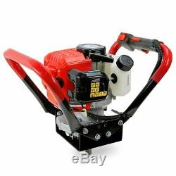 Gas-Powered 55cc 2-Stroke Earth Auger Post Hole Digger Fence + 3 Drill Bits Set