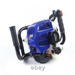 Gas Powered Earth Auger Post Hole Digger Borer Fence Ground 52CC & 2 Drill Bits