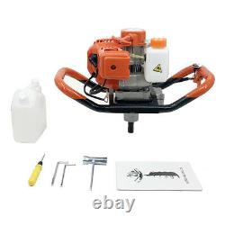 Gas Powered Fence Post Hole Digger 52cc Earth Auger Digger with 8 Drill Bit US