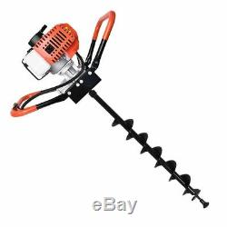 Gas Powered Post Hole Digger with 4 6 8 Auger Bits 52CC Gasoline Engine Motor