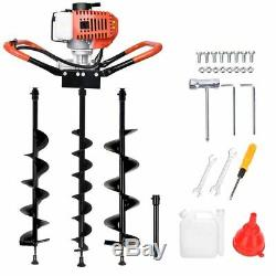 Gas Powered Post Hole Digger with 4 6 8 Drill Auger Bit 52CC Power Engine Motor