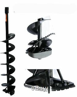 Ice Auger Drill Hole Post Digger 52cc Gas Power with8 ice bits Bit