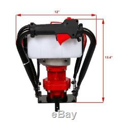 NEW 2.3HP 56cc Gas Powered Engine One Man Post Hole Digger + 8 Auger Bits