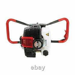 New 52CC Post Hole Digger Gas Powered Earth Auger Borer Fence Ground Drill+3 Bit