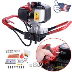 One Man 52cc Gas Power Earth Post Hole Auger Head Machine 2 Stroke Air Cooled