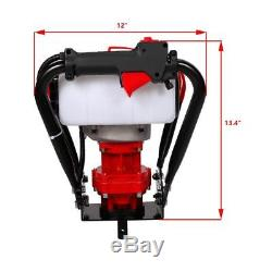 One Man 56CC Gas Power Auger Post Hole Digger Engine 6 & 10 Drill Bits