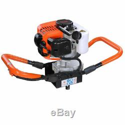 One Man Earth Auger 2.2HP 52cc Gas Powered Post Hole Digger Machine 2-Stroke EPA