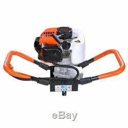 One Man Earth Auger 52cc 2.2HP Gas Powered Post Hole Digger Machine EPA 2-Stroke