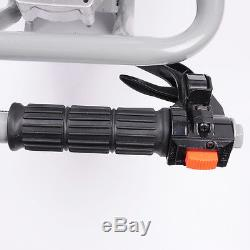 PAS 63cc Gas Power Earth Auger Post Fence Hole Digger Ground Borer Drill Machine